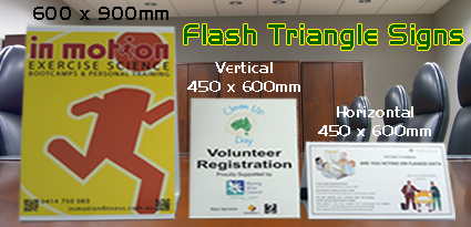 Flash Triangle Signs 5mm Corflute