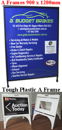 A-Frame 900x1200mm & Tough Plastic A-Frame
