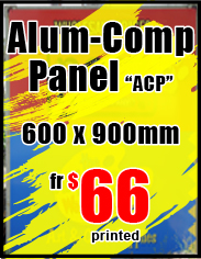 Aluminium Composite Panel from $22 - Jack Flash Signs