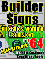 Builder Signs Site Signs fr $64