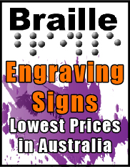 Braille & Engrving Signs Jack Flah Signs