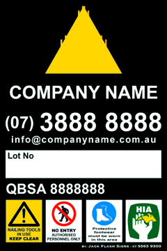 Safety Signs Builder Site Rules - Jack Flash Signs