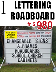 Lettering Roadboard A-Frame  Jack Flash Signs