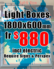 Light Box 1800x600mm from $880
