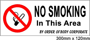 Safety Signs No Smoking Signs - Jack Flash Signs