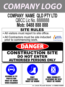 Safety Signs Builder Signs - Jack Flash Signs