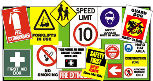 Safety Signs, Speed Limit Signs, Construction Signs, No Smoking Signs, Toilet Signs, Braille Signs