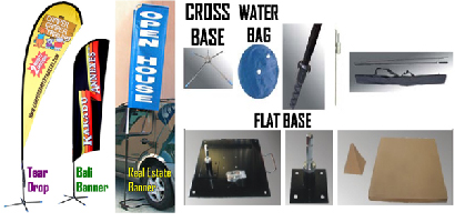 Tear Drop Banner, Bali Banner, Real Estate Banner & All Base - Jack Flash Signs