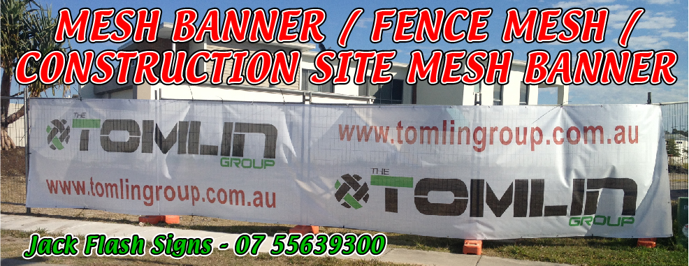 Mesh Banner, Printed Mesh Banner, Fence Mesh, Printed Fence Mesh, Mesh Signage, Outdoor Mesh Banner, Mesh Banner Temporary Fences, Banner Mesh, Construction Site Banners, Construction Site Mesh Banners, Construction Mesh, Mesh Banner Roll, Printed Mesh, Bannamesh, Mesh Bannah Jack Flah Signs