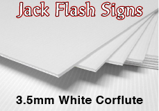 Corflute 3.5mm Jack Flash Signs