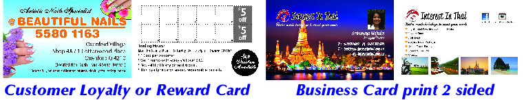 Business Card & Customer Loyalty Reward Card