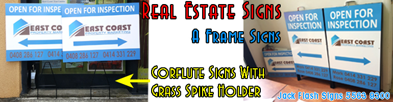 Real Estate Signs. Jack Flash Signs