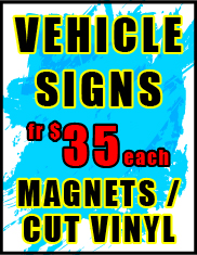 Magnet Vehicle Jack Flash Signs