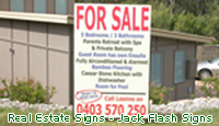 For Sale - Real Estate Signs. Jack Flash Signs