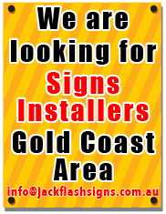 Jack Flash Signs looking for Signs Installers