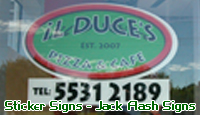 Shop Signs. Jack Flash Signs